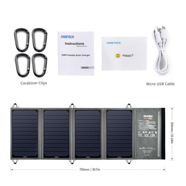 Choetech SC003 Solar Charger 24W