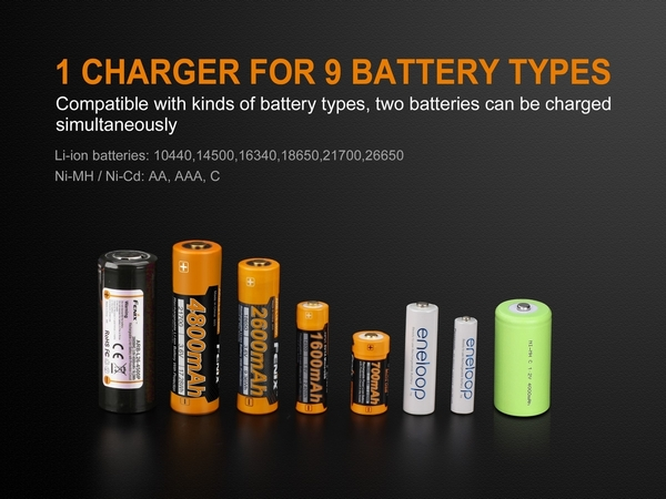 Fenix ARE-A2 Dual Channel Battery Smart Charger