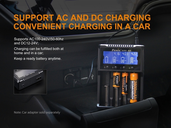 Fenix ARE-A4 Dual 4 Channel Battery Smart Charger