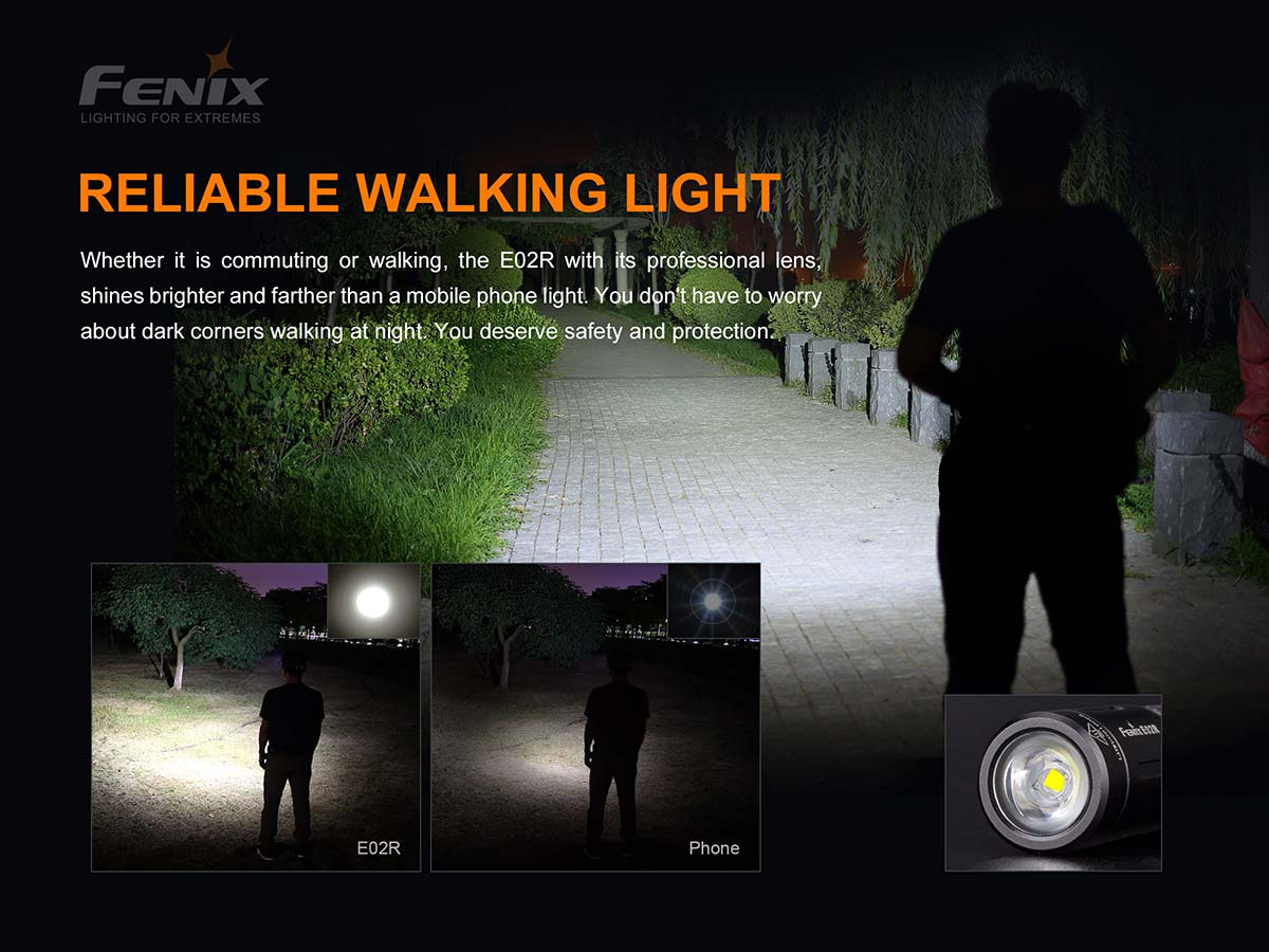 Fenix E02R Keychain light