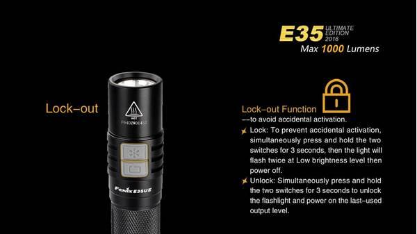 Fenix E35UE 1000 lumens LED flashlight