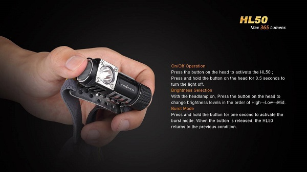 fenix e20 led headlamp 365 lumens