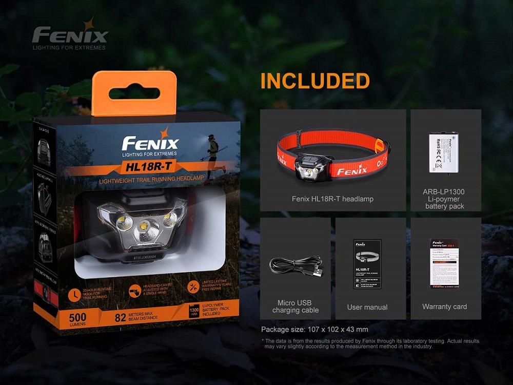 fenix HL18R-T ULTRALIGHT TRAIL RUNNING HEADLAMP