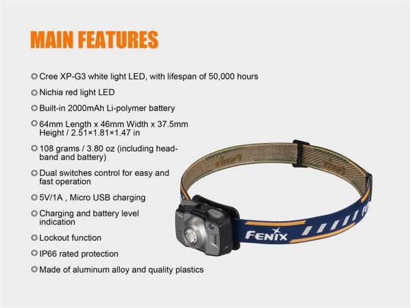 Fenix HL32R led headlamp 600 lumens