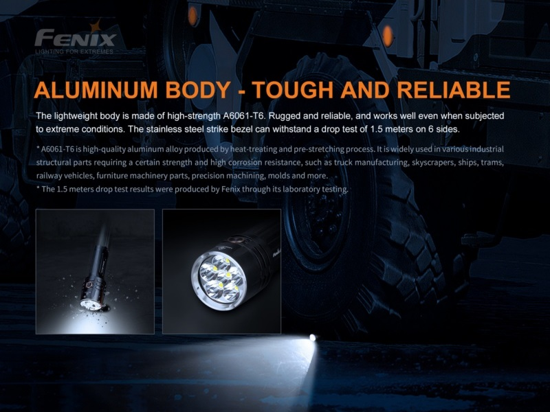 Fenix LR35R 10000 lumens 500 meters beam distance