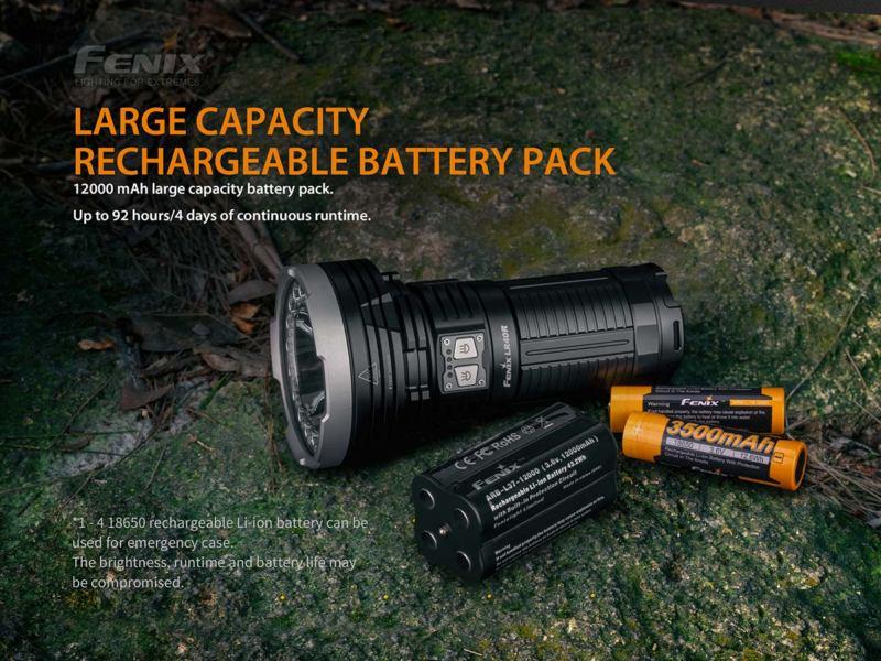 Fenix LR40R 12000 Lumens Rechargeable 12000 mAh