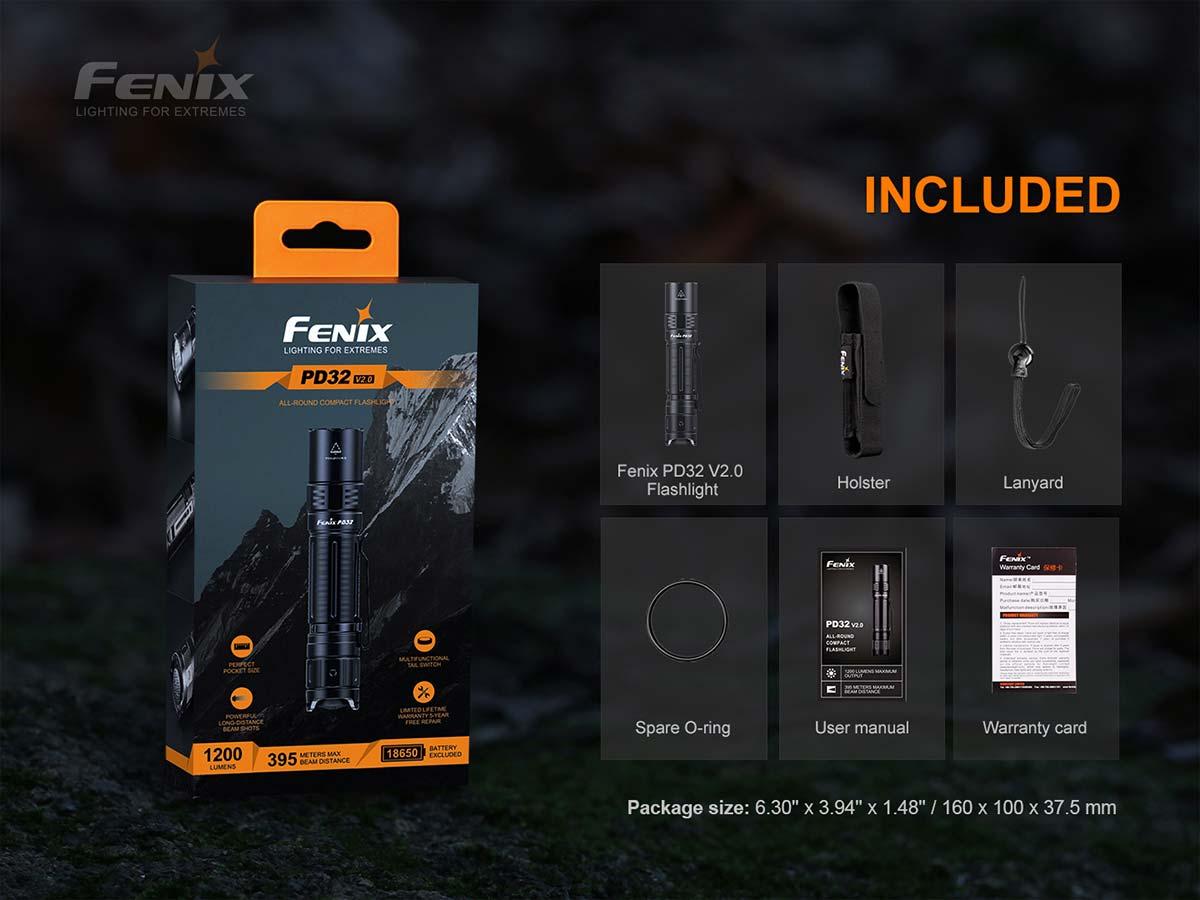 Fenix PD32 V2.0 Compact Flashlight