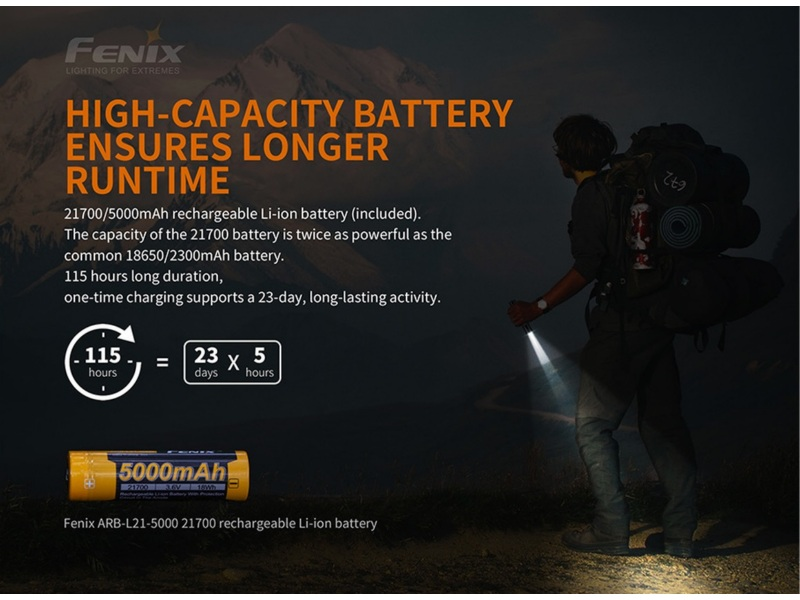 Fenix PD36R 1600 lumens Rechargeable tactical flashlight