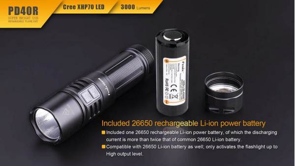 Fenix PD40R rechargeable LED flashlight