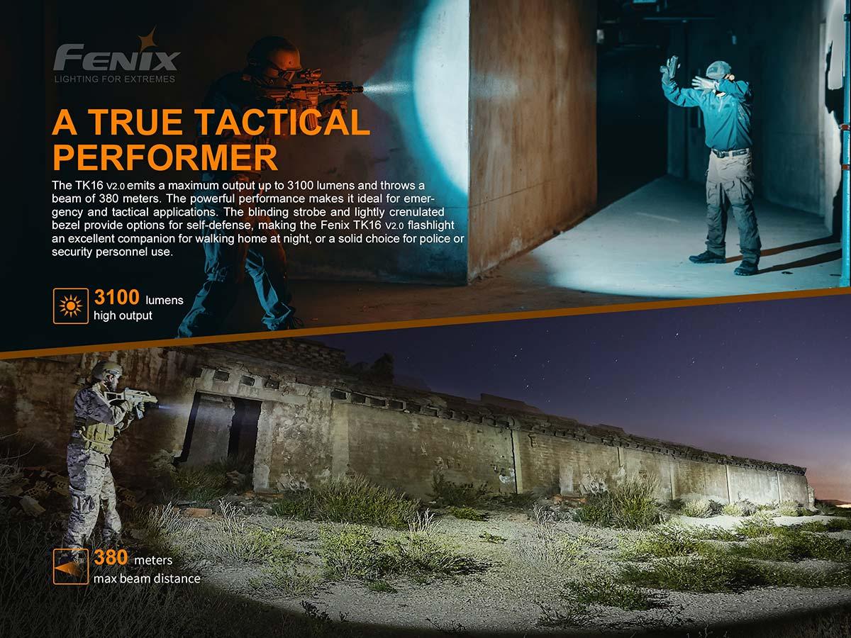 Fenix TK16 V2.0 Tactical Flashlight - 3100 Lumens