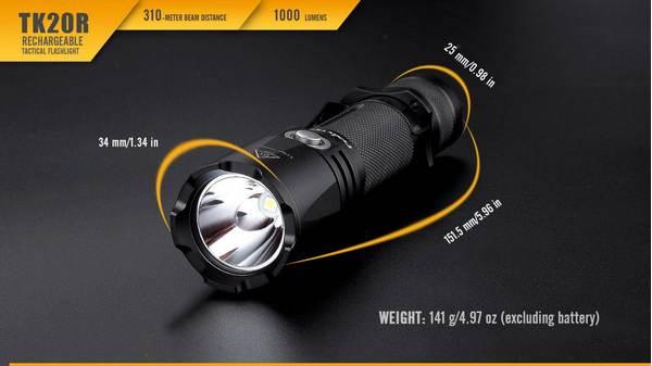 Fenix TK20R LED flashlight