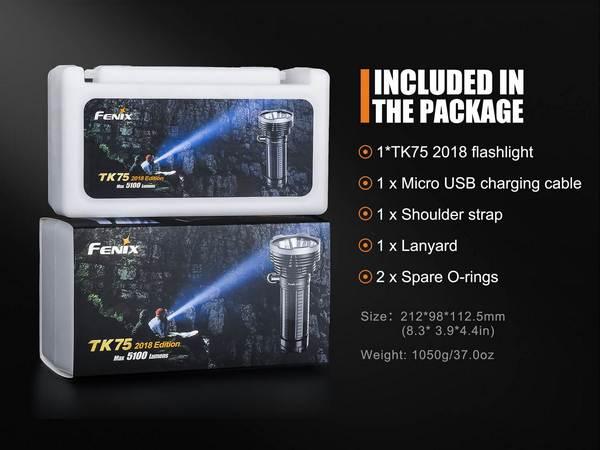 Fenix TK75 Edition 2018 5100 lumens