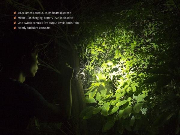 Fenix UC30 2017 1000 lumens Led flashlight