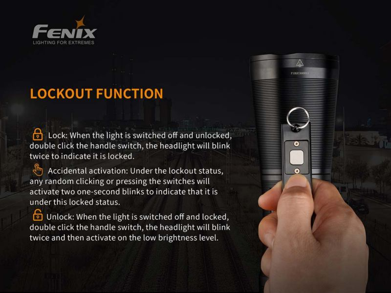 Fenix WT50R 3700 lumens flashlight
