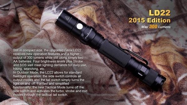 fenix LD22 led flashlight 300 lumens