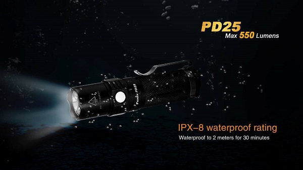 fenix PD25 led flashlight 550 lumens