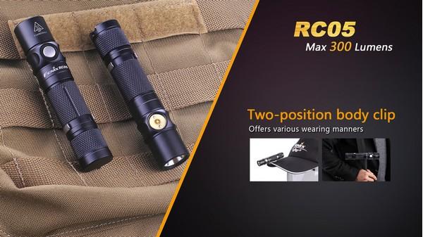 fenix RC05 300 lumens led flashlight
