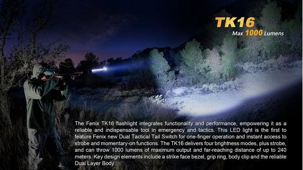 fenix TK 16 led flashlight 1000 lumens