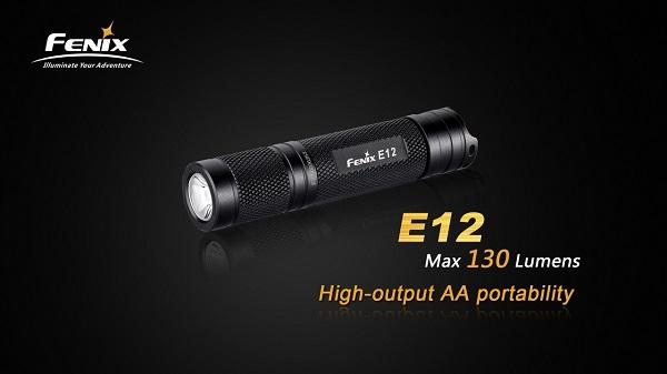 fenix e12 led flashlight