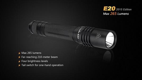 fenix e20 led flashlight