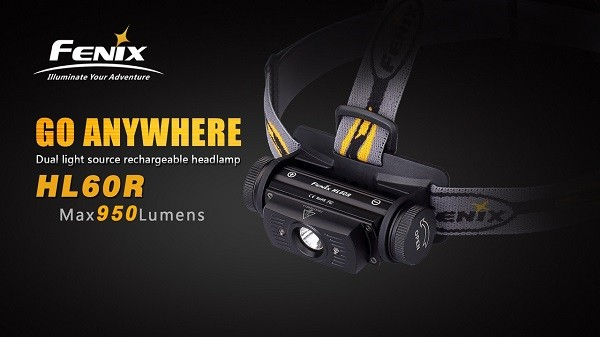fenix HL60R led headlamp 950 lumens