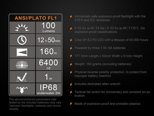 Fenix SE10 Explosion-Proof Industrial LED flashlight