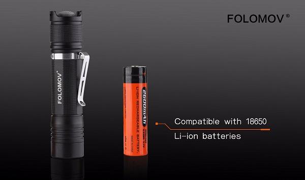 Folomov Camp-D4 LED flashlight
