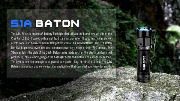 olight_S1A_BATON_600_lumens_rechargeable_LED_flashlight