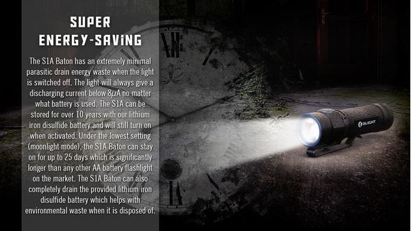olight_S1A_BATON_600_lumens_rechargeable led flashlight