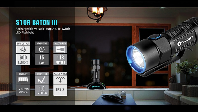 Olight S10R III 600 Lumens