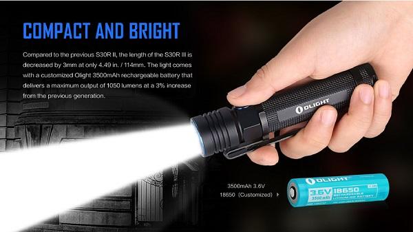 Olight S30R III 1050 Lumens