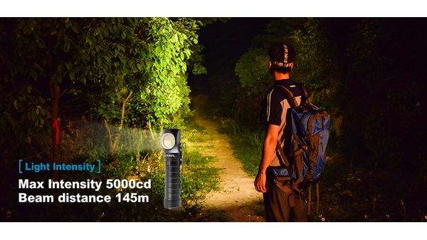 Xtar H3W Warboy led flashlight_warm_light_b