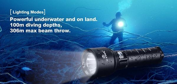 xtar d06 diving flashlifght