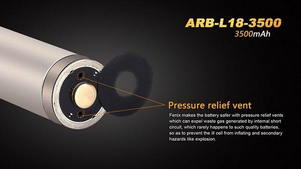 Fenix 18650 ARB-L18-3500 battery 3500mAh