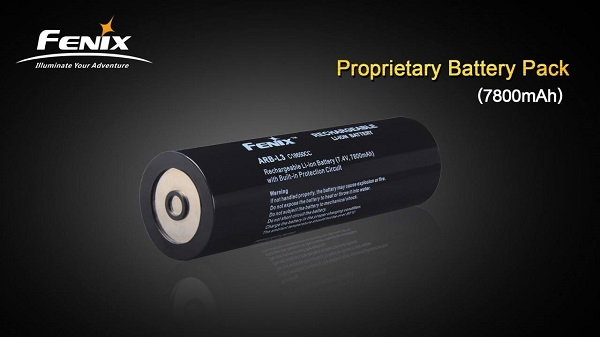 Fenix ARB-L3 18650 CC battery 7800mAh