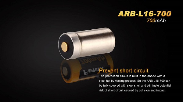 fenix arb-l16-700 16340 battery